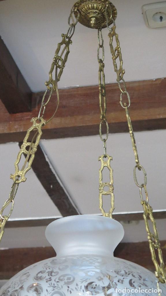 Antigüedades: BONITA LAMPARA ESTILO QUINQUE. AÑOS 40 - Foto 5 - 126587879