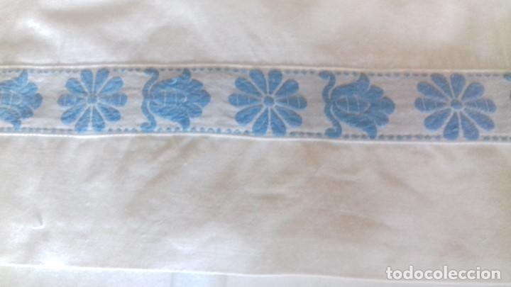 Antigüedades: ANTIGUA SABANA CON FUNDA, CON TAPACOSTURA. - Foto 5 - 126590299