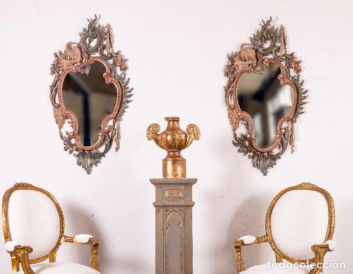 ESPEJO ANTIGUO RESTAURADO CLOE (Antigüedades - Muebles Antiguos - Espejos Antiguos)
