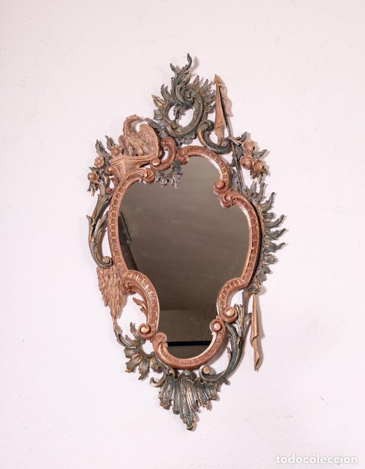 Antigüedades: Espejo Antiguo Restaurado Cloe - Foto 2 - 126643811