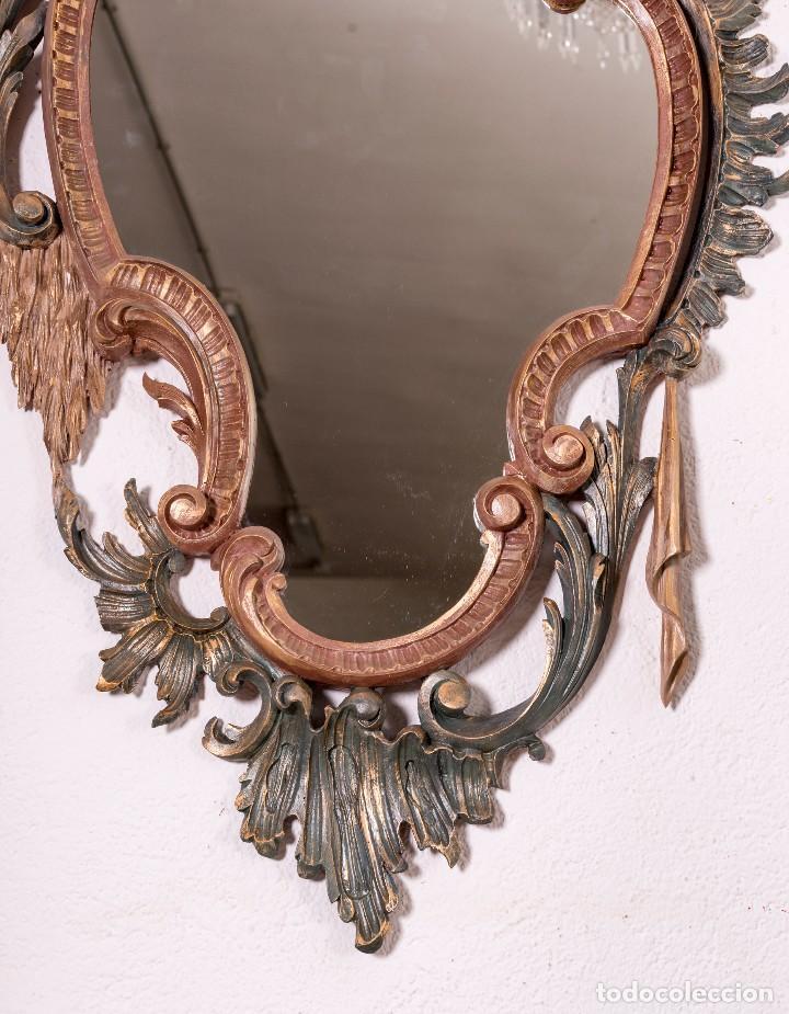 Antigüedades: Espejo Antiguo Restaurado Cloe - Foto 3 - 126643811