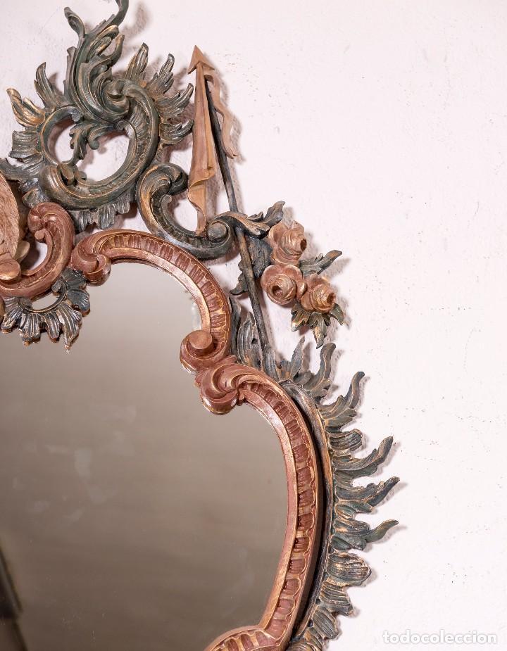 Antigüedades: Espejo Antiguo Restaurado Cloe - Foto 4 - 126643811