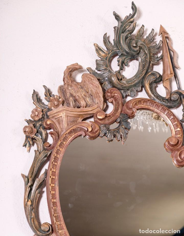 Antigüedades: Espejo Antiguo Restaurado Cloe - Foto 5 - 126643811