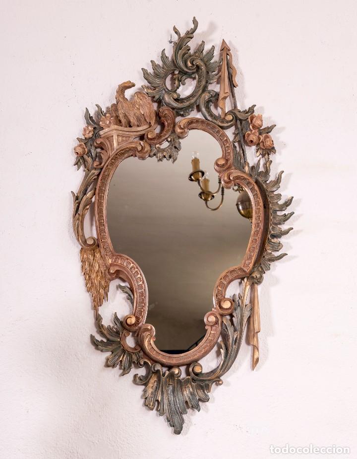 Antigüedades: Espejo Antiguo Restaurado Cloe - Foto 6 - 126643811