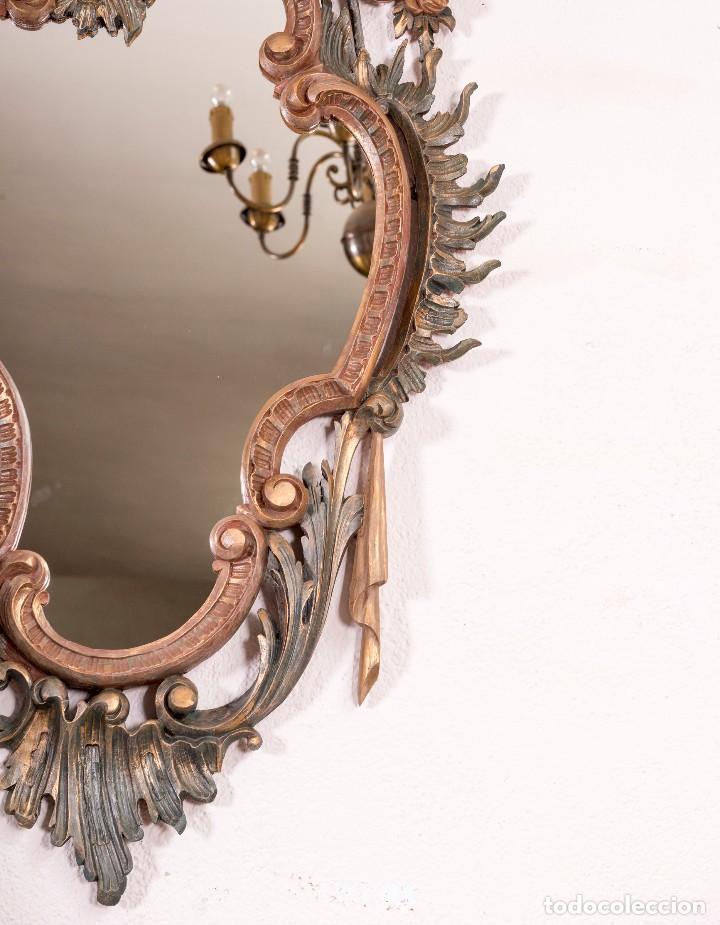 Antigüedades: Espejo Antiguo Restaurado Cloe - Foto 8 - 126643811