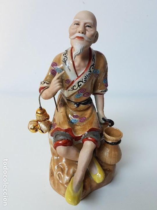 PRECIOSA FIGURA CHINA (Antigüedades - Porcelanas y Cerámicas - China)