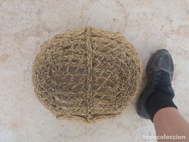Antigüedades: Cesta espuerta o capazo antiguo de esparto utilizado para fruta verdura pescado - Foto 4 - 126659371