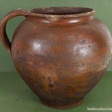 Antigüedades: TINAJA PARA ACEITE. CERÁMICA COCIDA Y VIDRIADA. CATALUÑA. SIGLO XIX-XX. . Lote 126661423