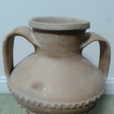 Antigüedades: ANTIGUA ANFORA DOS AZAS TERRACOTA DE TRIANA. Lote 126366080