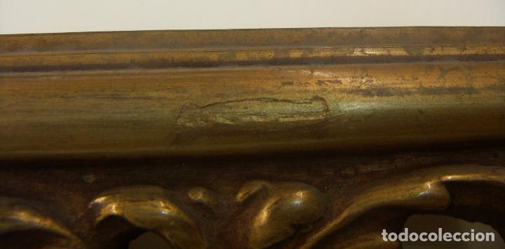 Antigüedades: ANTIGUO MARCO MADERA Y PAN DE ORO - Foto 4 - 126698643