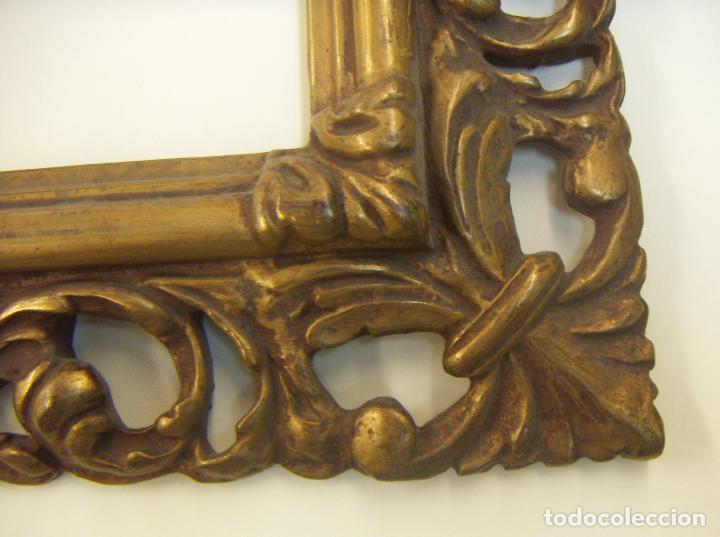 Antigüedades: ANTIGUO MARCO MADERA Y PAN DE ORO - Foto 6 - 126698643