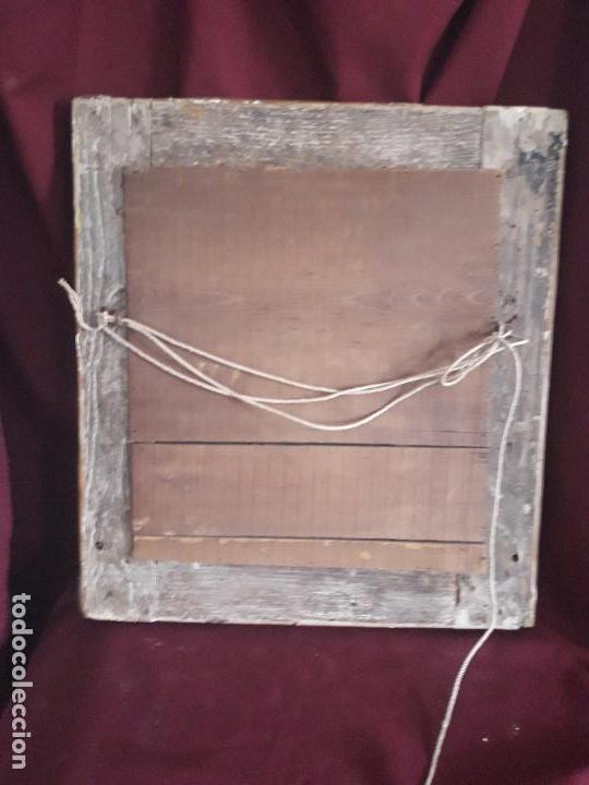 Antigüedades: ESPEJO ISABELINO POLICROMADO EN PAN DE ORO FINO - Foto 8 - 126708631