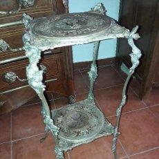Antigüedades: MACETERO HIERRO FUNDIDO. Lote 126706471