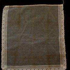 Antiquités: ANTIGUO DELANTAL DE ENCAJE DE VALENCIENNES - PRINCIPIOS XX. Lote 126720667