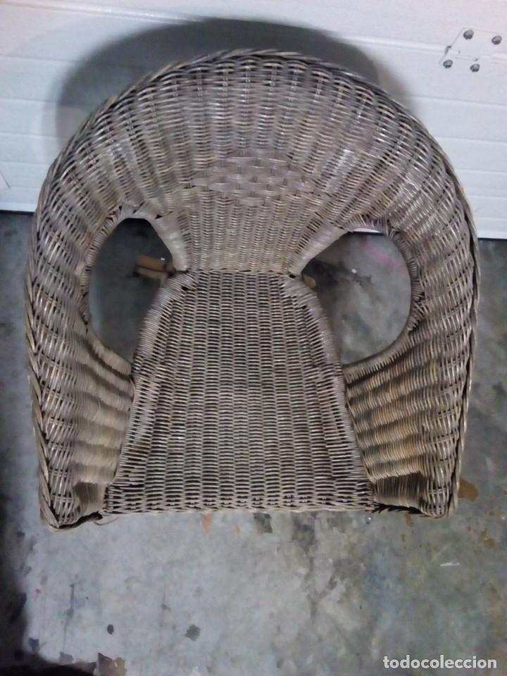 Antigüedades: sillon de mimbre - Foto 2 - 126740859