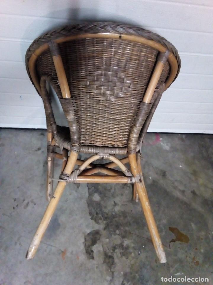 Antigüedades: sillon de mimbre - Foto 3 - 126740859