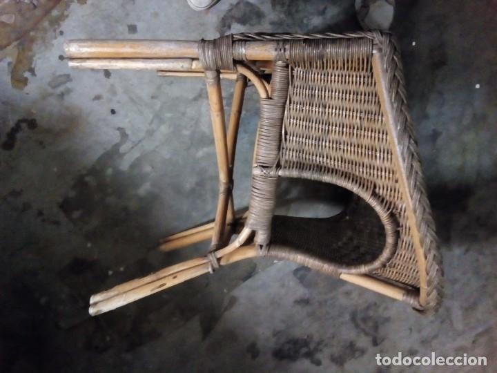 Antigüedades: sillon de mimbre - Foto 4 - 126740859