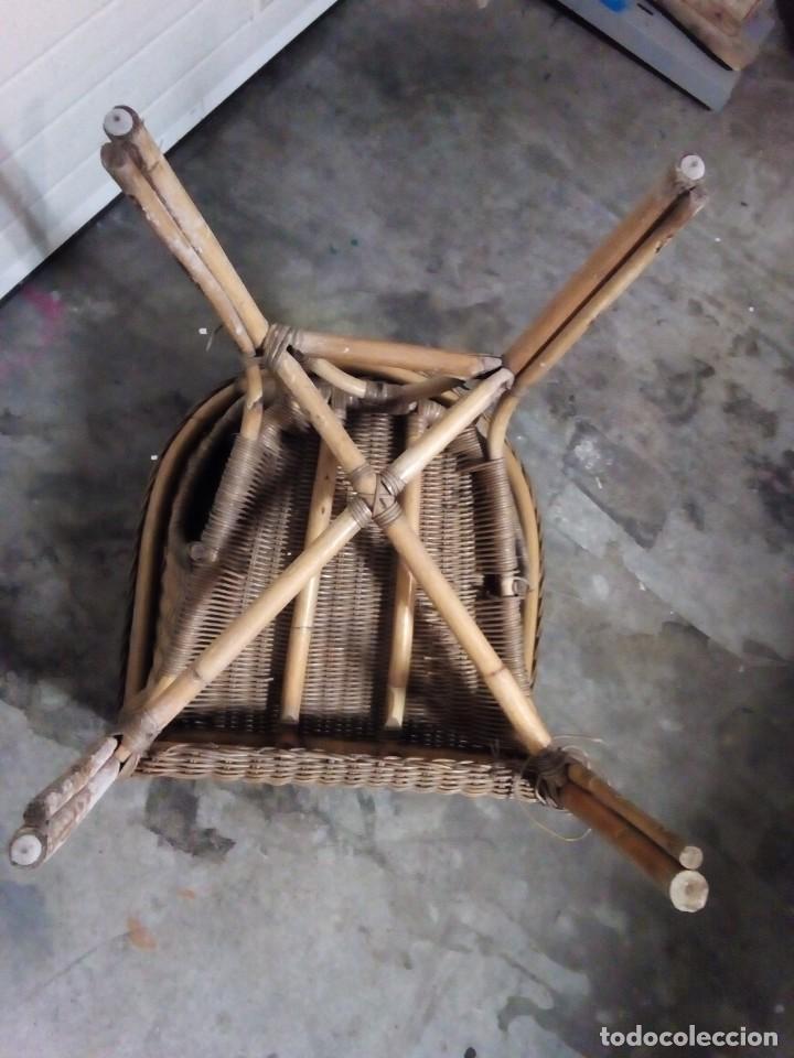 Antigüedades: sillon de mimbre - Foto 5 - 126740859