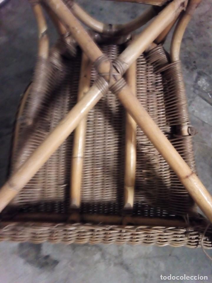 Antigüedades: sillon de mimbre - Foto 6 - 126740859