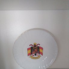 Antigüedades: PLATO PORCELANA ESCUDO NUEVO ESTADO DE ESPAÑA. Lote 126743316