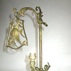 Antigüedades: PRECIOSA LAMPARA ANTIGUA CIRCA 1900 SIRENA Y PEZ ESCALANTE RESTAURADA DECORACION NAUTICA. Lote 126752319