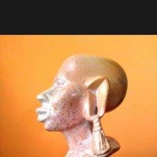 Antigüedades: FIGURA AFRICANA ÉTNICA EN MÁRMOL. Lote 126762087