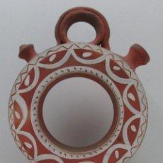 Antigüedades: BOTIJO CÁNTIR - INDALECIO BONXE - LUGO - TORTELL ROSCO - 32 X 20 X 6,5 CM. Lote 126803443