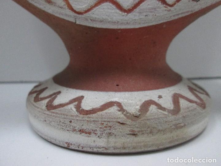 Antigüedades: BOTIJO CÁNTIR - INDALECIO BONXE - LUGO - TORTELL ROSCO - 32 X 20 X 6,5 CM - Foto 3 - 126803443