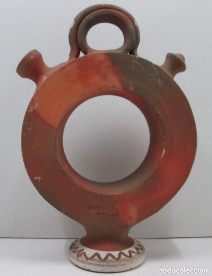 Antigüedades: BOTIJO CÁNTIR - INDALECIO BONXE - LUGO - TORTELL ROSCO - 32 X 20 X 6,5 CM - Foto 6 - 126803443