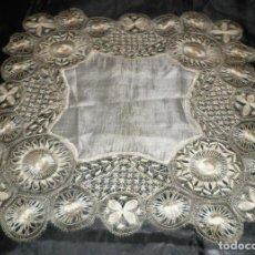 Antiquitäten - pañuelo antiguo de finales del siglo XIX de seda - 126808763
