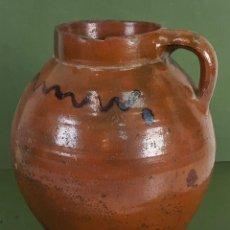 Antigüedades: JARRA DE VINO. CERÁMICA COCIDA Y VIDRIADA. ESPAÑA. SIGLO XX. . Lote 126839247
