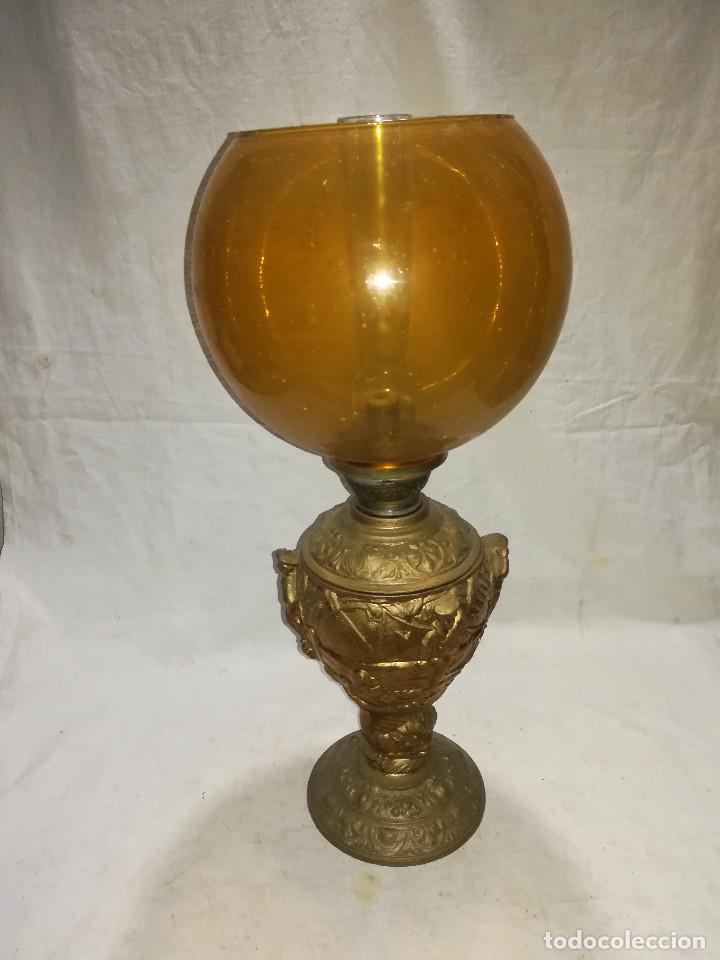 QUINQUE ANTIGUO Y ORIGINAL. KOSMOS BRENNER (Antigüedades - Iluminación - Quinqués Antiguos)