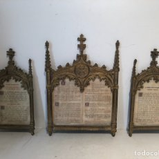 Antigüedades: SACRAS NEOGOTICAS DE BRONCE ANTIGUAS.. Lote 126848855