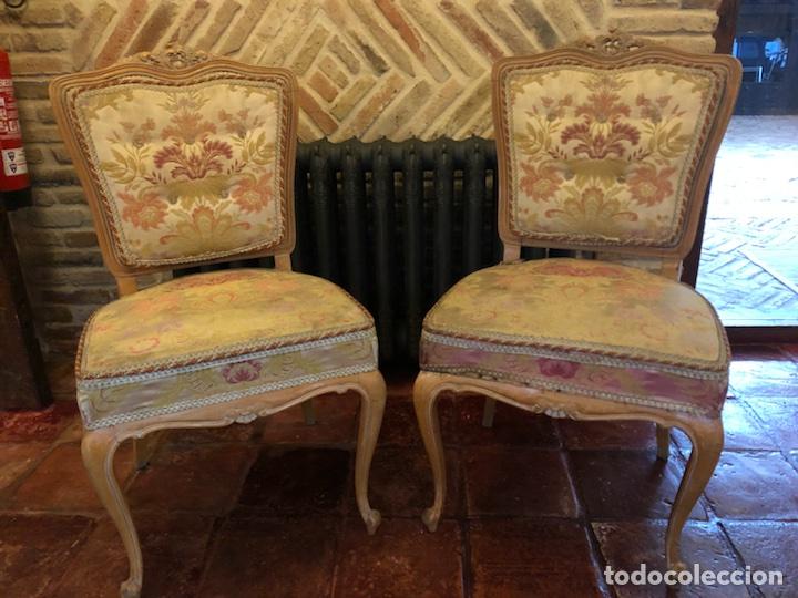 PAREJA ANTIGUAS SILLAS ISABELINAS (Antigüedades - Muebles Antiguos - Sillas Antiguas)