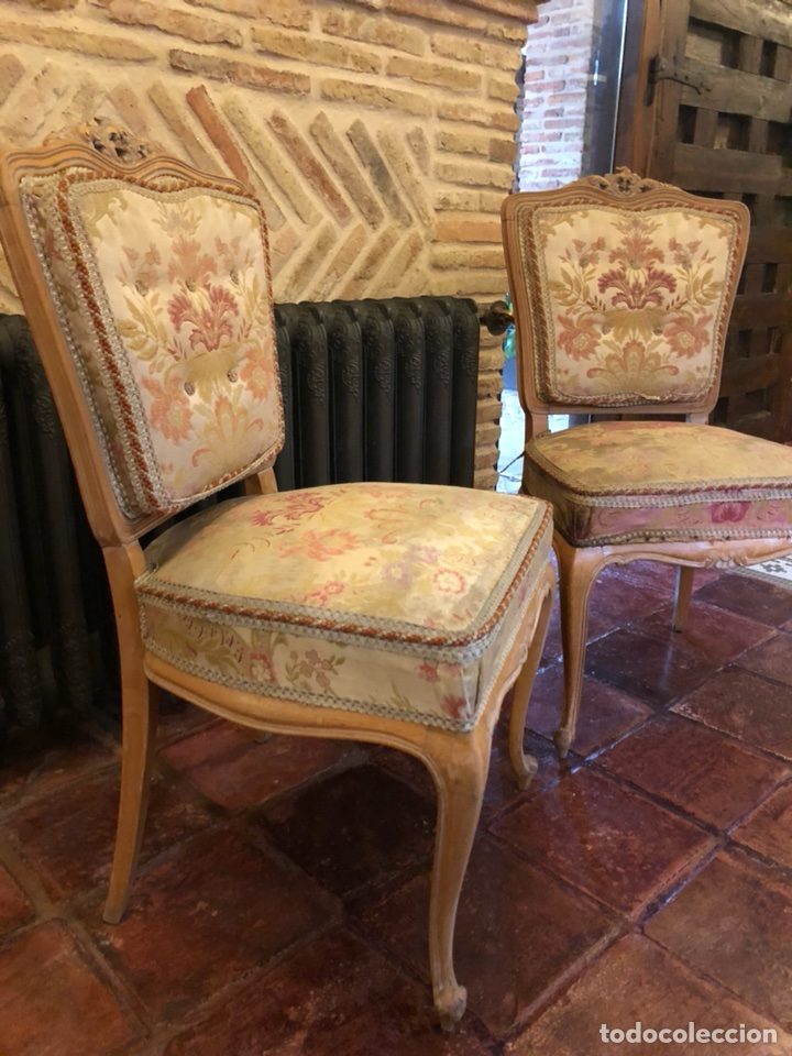 Antigüedades: Pareja Antiguas sillas isabelinas - Foto 3 - 126861448