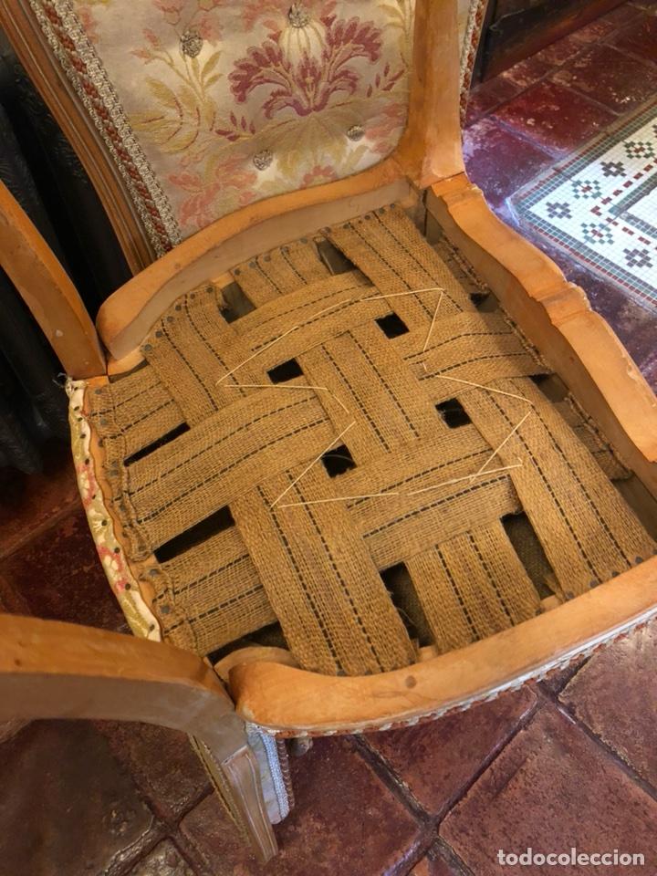 Antigüedades: Pareja Antiguas sillas isabelinas - Foto 4 - 126861448