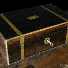 Antigüedades: CAJA ESCRITORIO SIGLO XIX. Lote 126864567