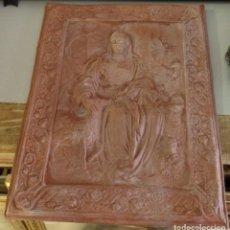 Antigüedades: PASTORA DE CANTILLANA, MATERIAL ESCAYOLA Y BARRO, 23X30 CMS. Lote 126885727