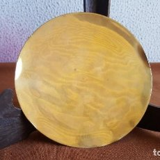 Antigüedades: PATENA DORADA EN METAL O PLATA.. Lote 126893727