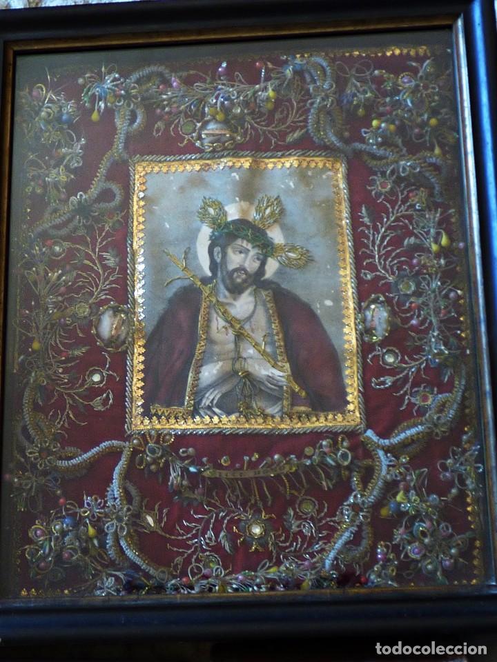 RELICARIO ELABORADO CON VARIADAS RELIQUIAS. S. XVIII (Antigüedades - Religiosas - Relicarios y Custodias)