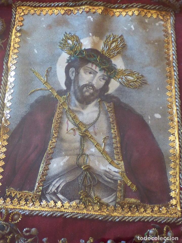 Antigüedades: RELICARIO ELABORADO CON VARIADAS RELIQUIAS. S. XVIII - Foto 2 - 126912539