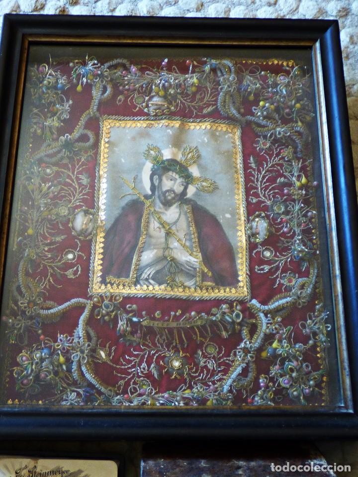 Antigüedades: RELICARIO ELABORADO CON VARIADAS RELIQUIAS. S. XVIII - Foto 5 - 126912539