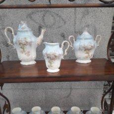 Antigüedades - JUEGO DE CAFÉ PORCELANA FRANCESA - 126919299