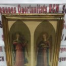 Antigüedades: CUADRO RELIGIOSO 2 ÁNGELES CON INSTRUMENTO. Lote 126942568