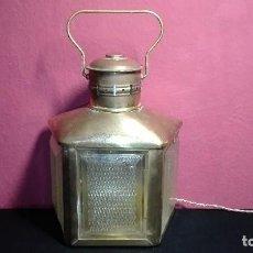 Antigüedades: LAMPARA FAROL CIERVO. Lote 126949811