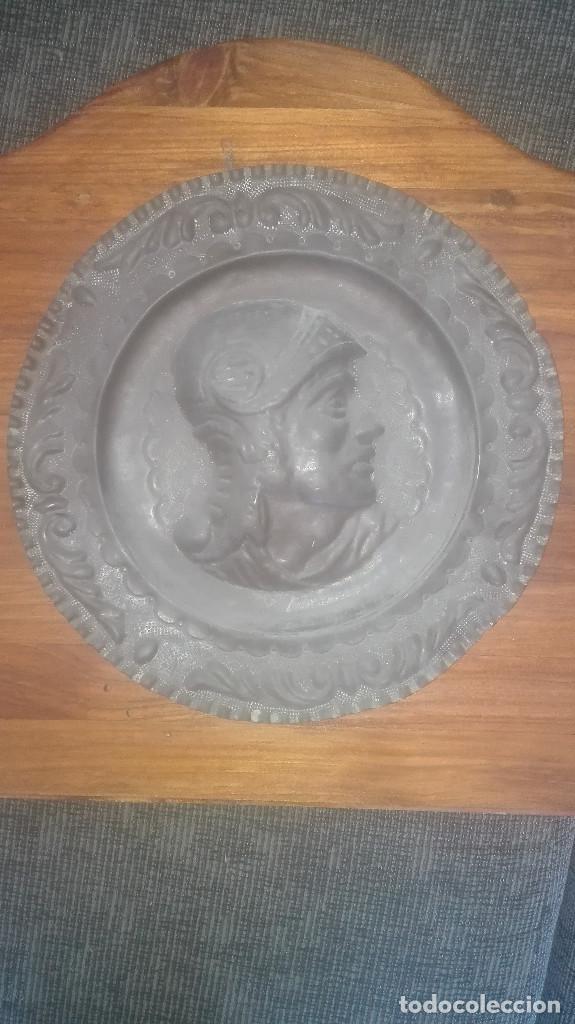 PLATO DE COBRE CENTENARIO (Antigüedades - Hogar y Decoración - Platos Antiguos)