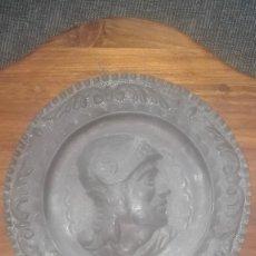 Antigüedades: PLATO DE COBRE CENTENARIO. Lote 126955687
