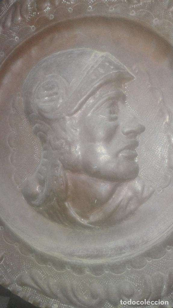 Antigüedades: plato de cobre centenario - Foto 3 - 126955687