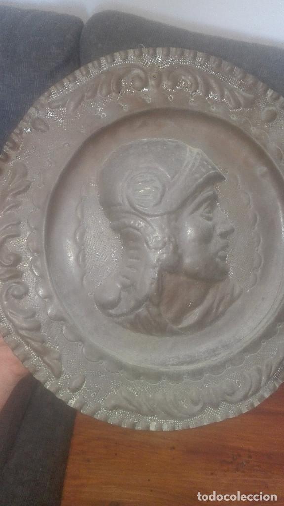 Antigüedades: plato de cobre centenario - Foto 4 - 126955687