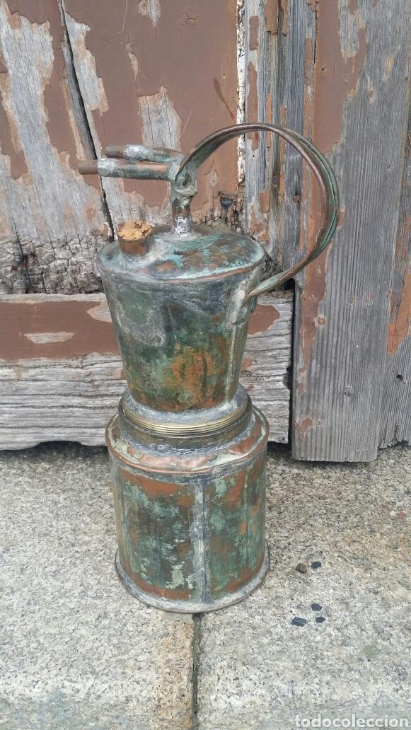 ANTIGUA LÁMPARA DE CARBURO (Antigüedades - Iluminación - Lámparas Antiguas)